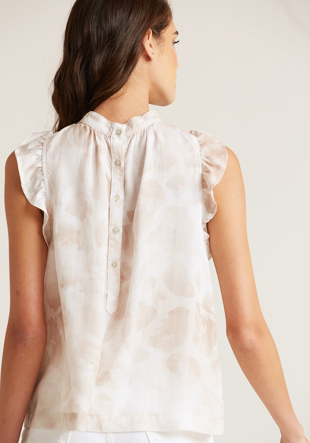 Mock Neck Ruffle Top