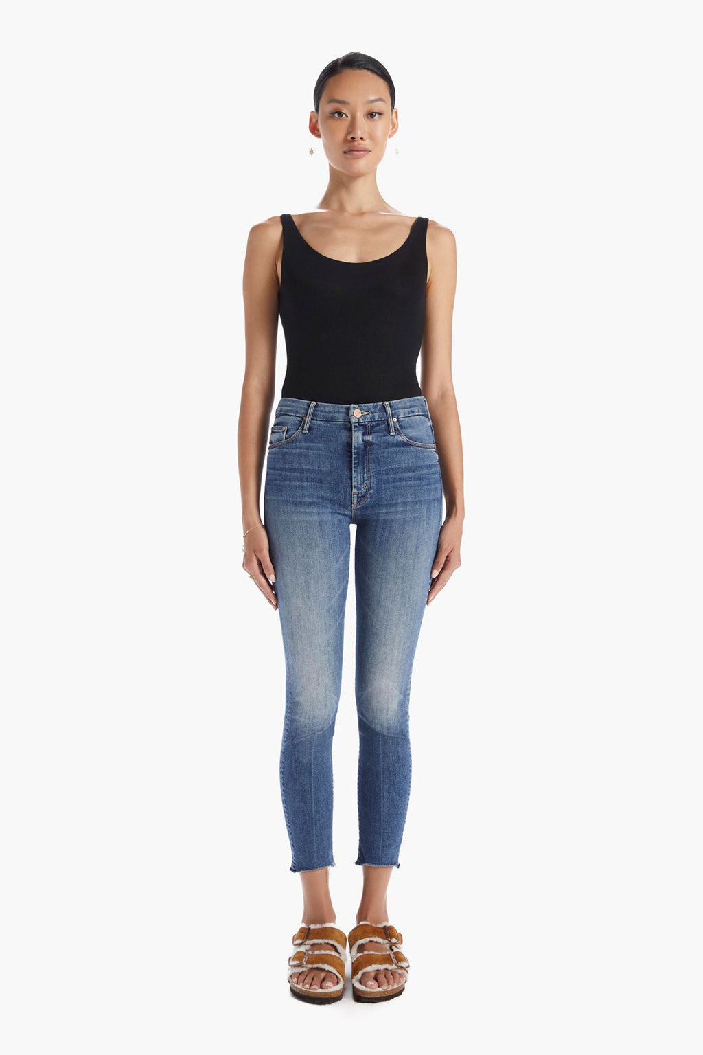 High Waisted Looker Ankle Fray Skinny