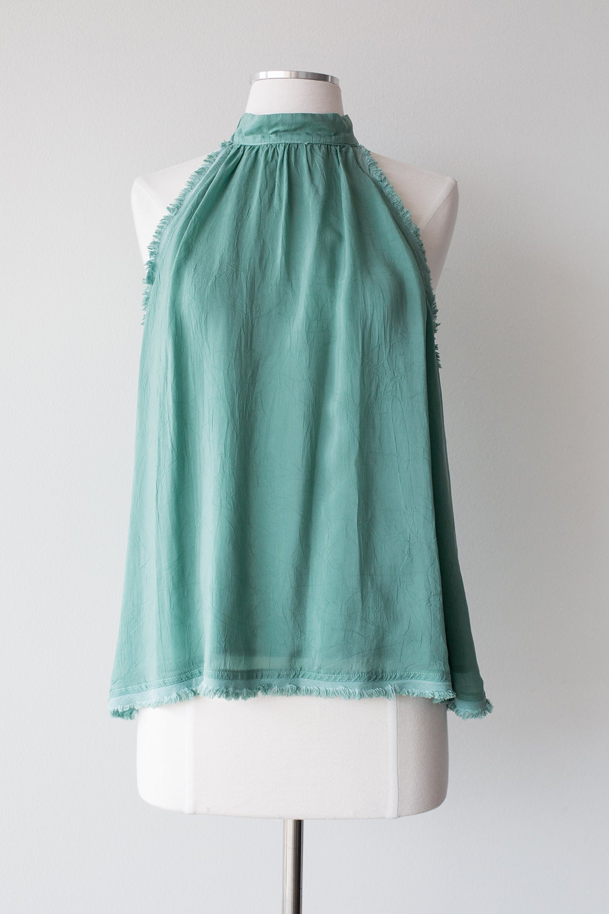 Sleeveless Fray Top