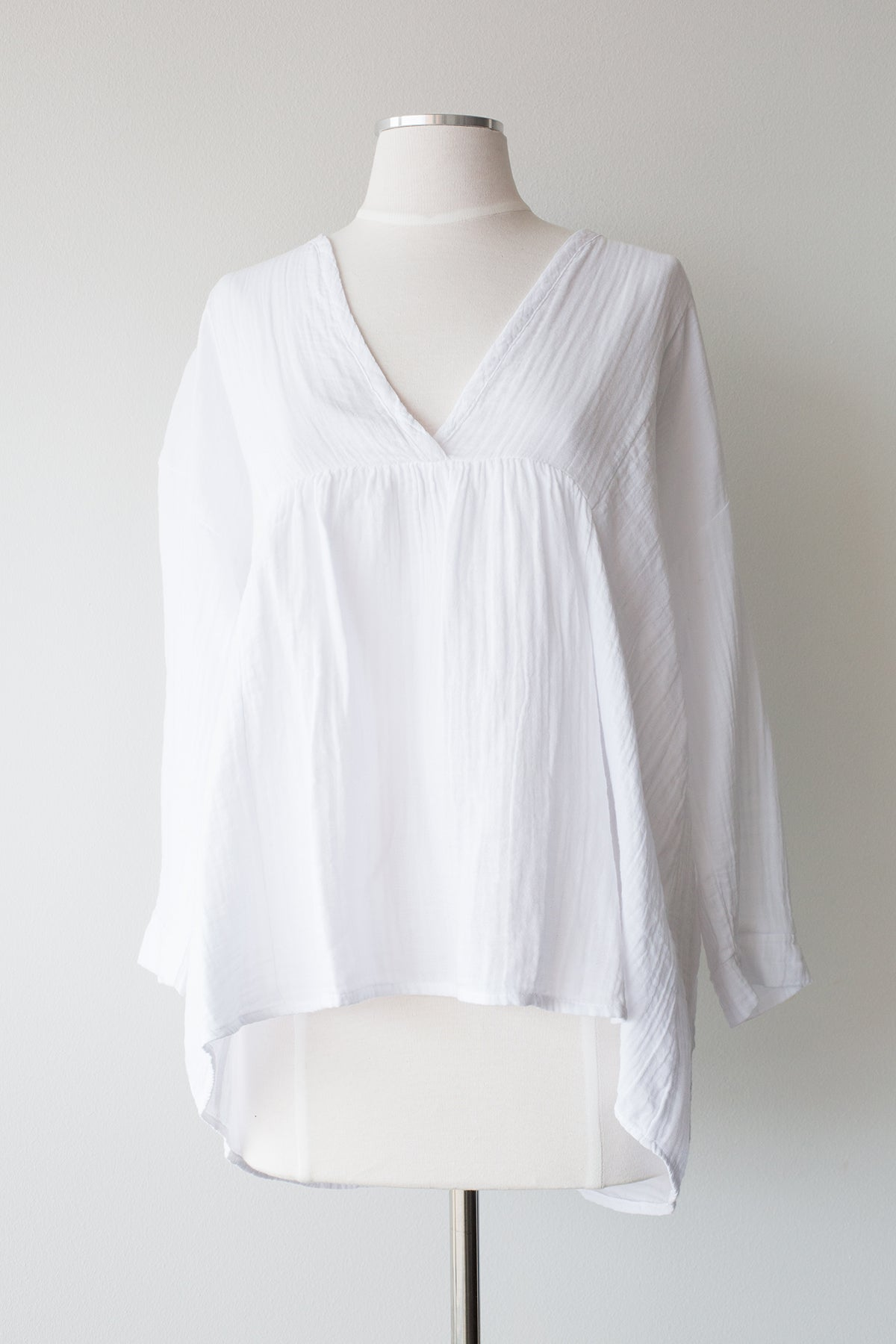 Cotton V-Neck Top