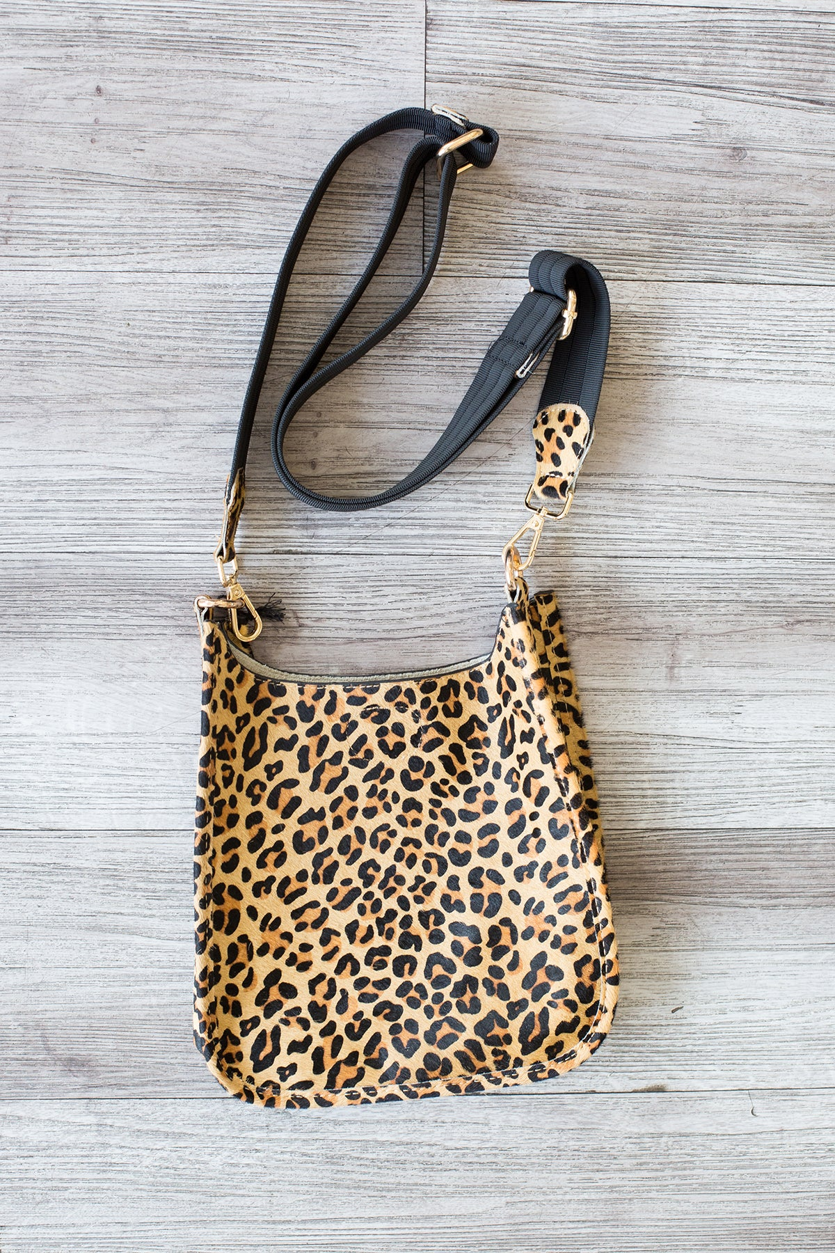 Calf Hair Mini Crossbody with Strap