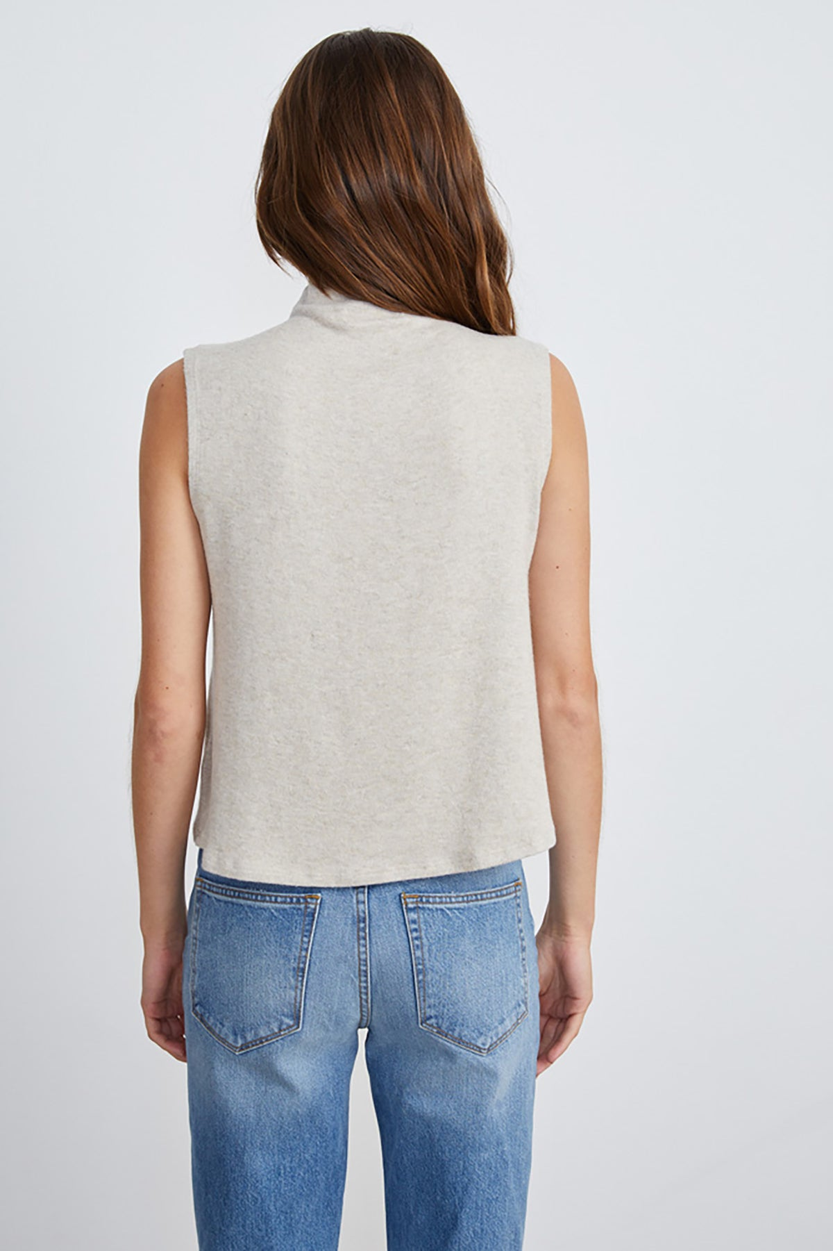 Oatmeal High Neck Knit