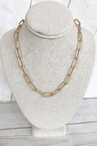Xl Paperclip Necklace 18'