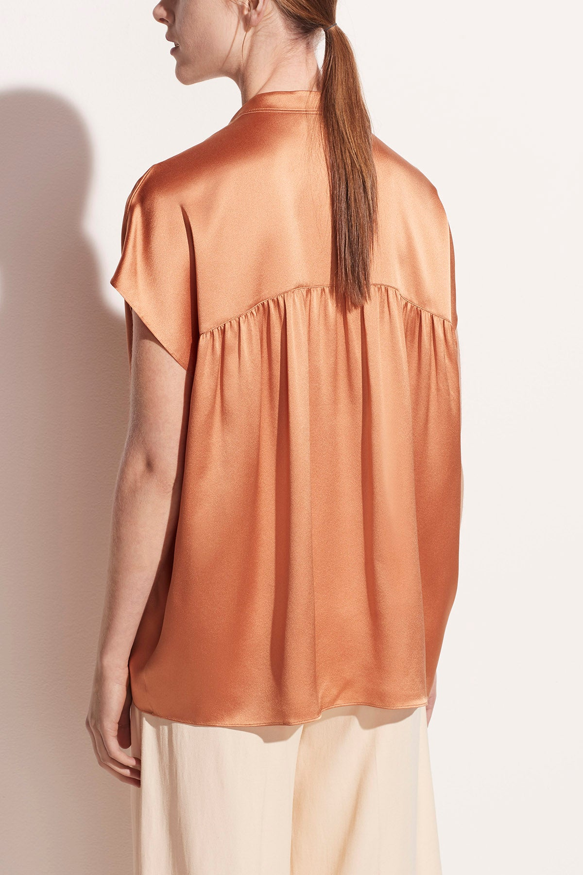 Sleeveless Shirred Back Blouse