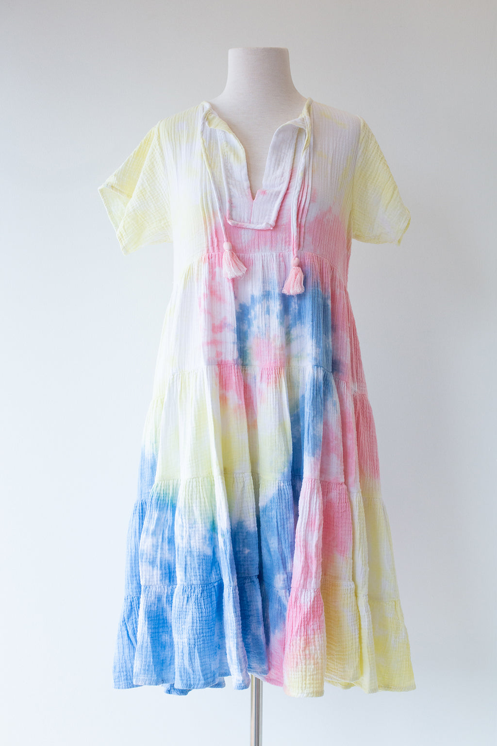Tie Dye Gauze Midi Dress