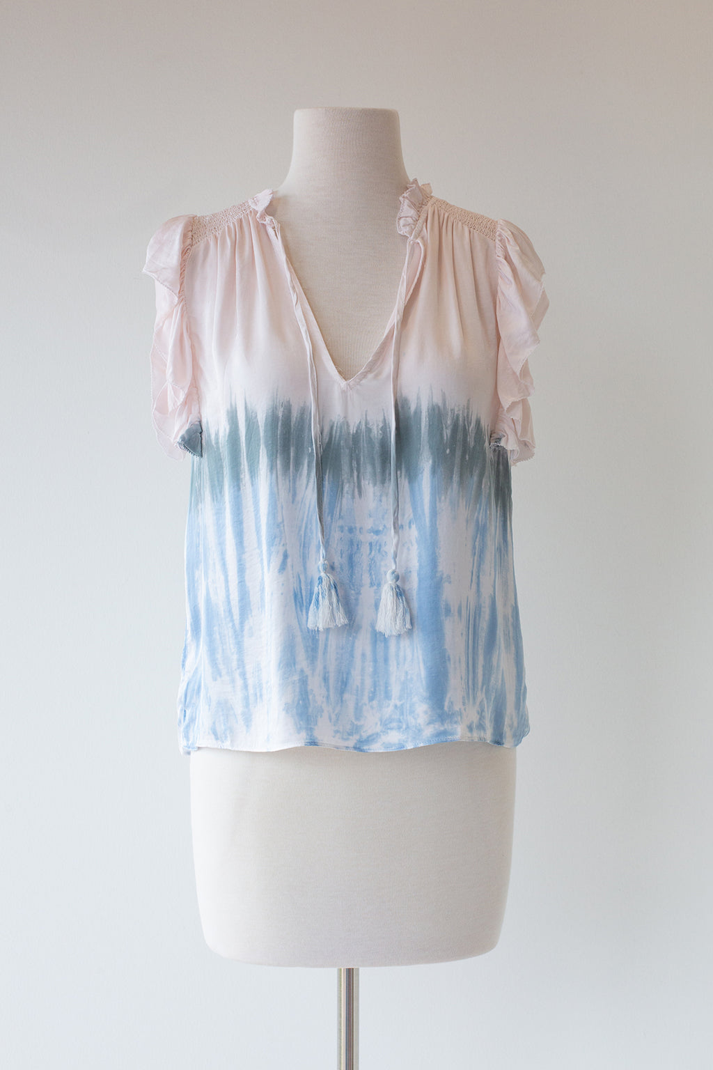 Tie Dye Smock Shoulder Top