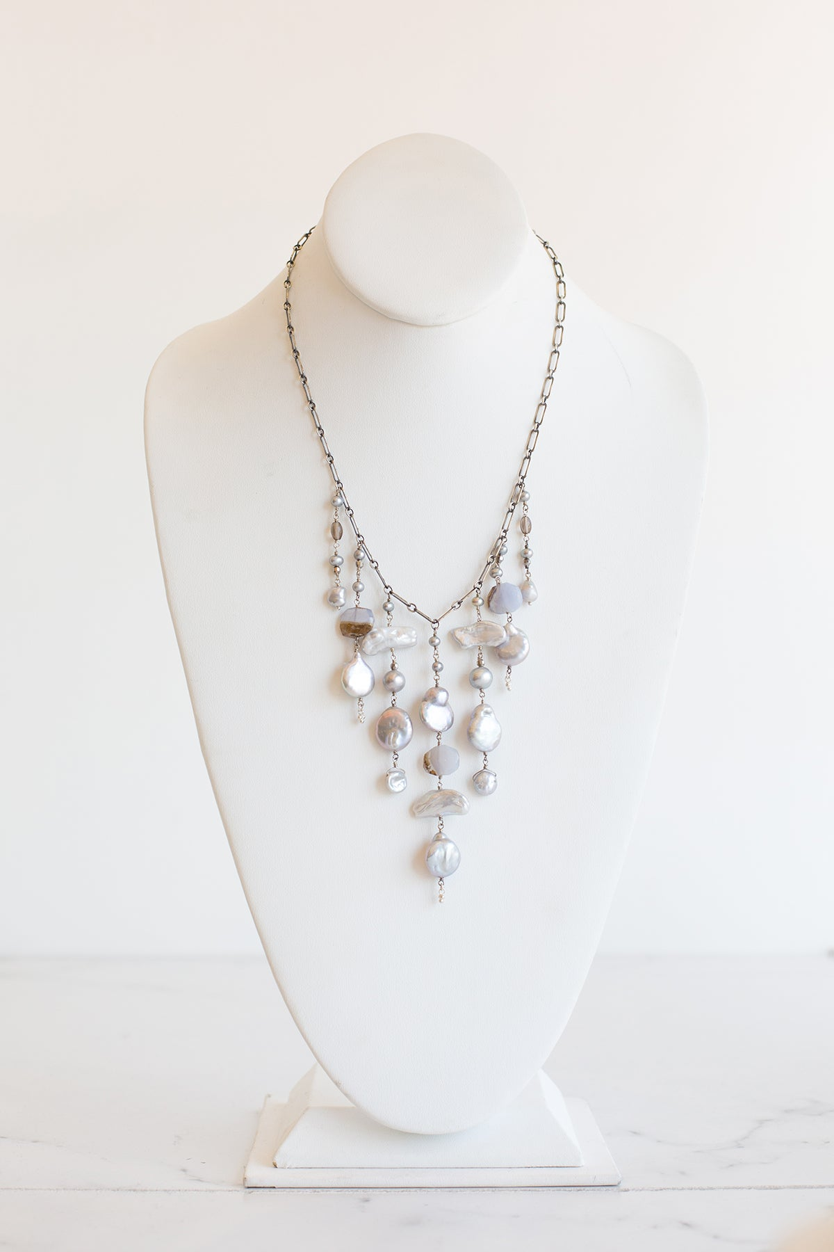 Statement Multi Beaded Necklace
