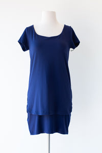 Double Layer Scoop Neck Dress