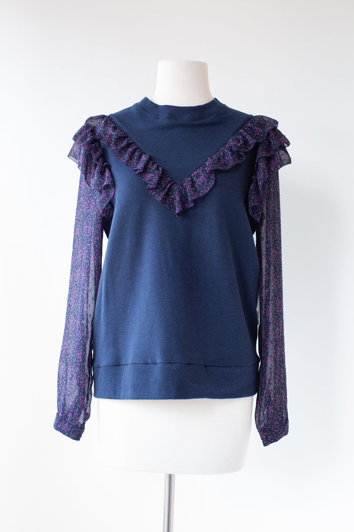 Jo Sheer Sleeve Top