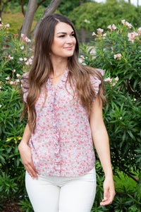 Sleeveless Eva Floral Top