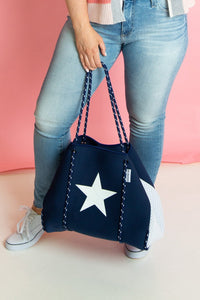 Neoprene Tote with Star