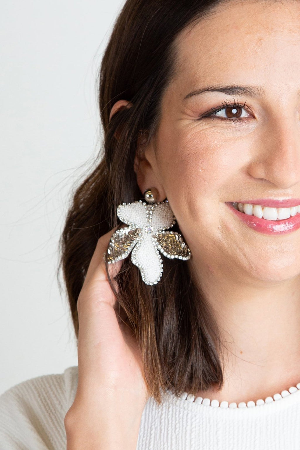 Delina Flower Earrings