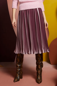 Gabriella Pleated Midi Skirt