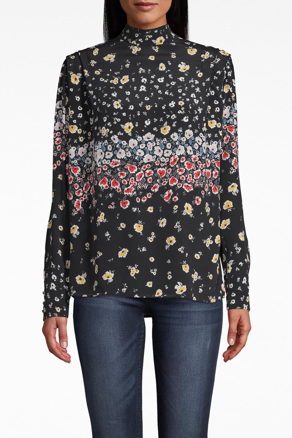 Ashbury Floral Silk Blouse