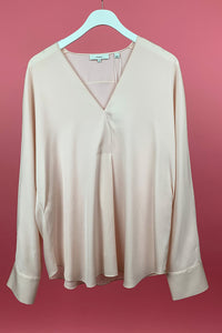 Long Sleeve Satin Popover
