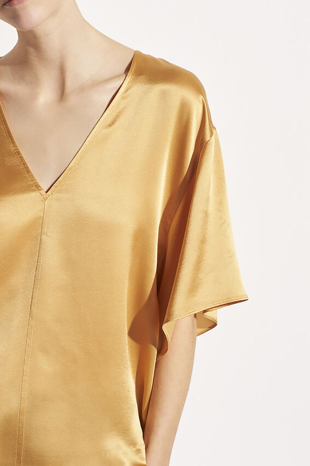 Double V-Neck Blouse