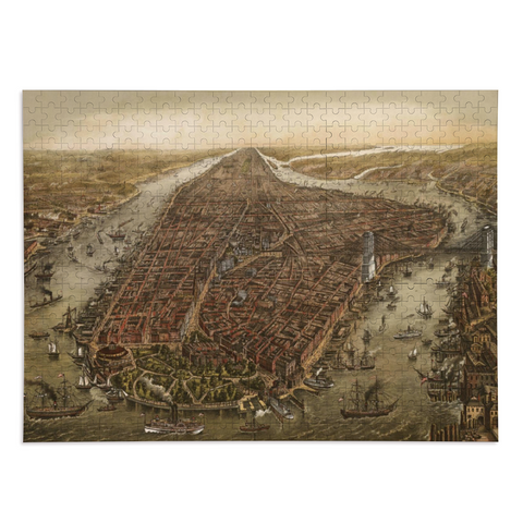 Puzzle New-York 500 pièces Manhattan 1870