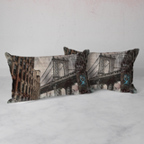 Housse de Couette NYC Manhattan Bridge Vintage