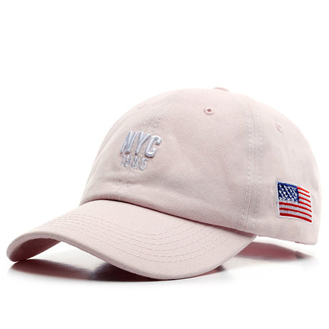 Casquette Baseball NYC rose