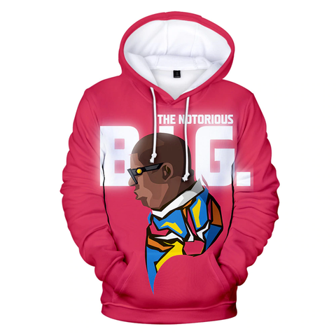 Hoodie New-York Notorious BIG Cartoon rose