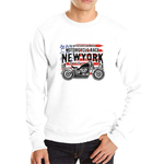 Sweat New-York Moto blanc