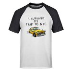 T-Shirt New-York Taxi Baseball Noir