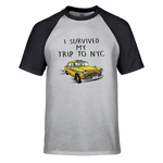 T-Shirt New-York Taxi Baseball Noir Gris