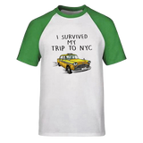 T-Shirt New-York Taxi Baseball Vert