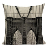 Housse de coussin New-York Brooklyn Bridge | Le Coin du New-Yorkais