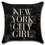 Housse de coussin New-York City Girl | Le Coin du New-Yorkais