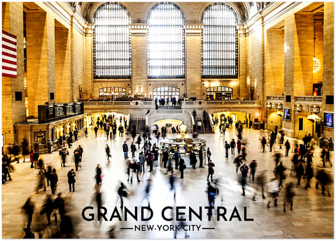 Poster Métal NYC Grand Central