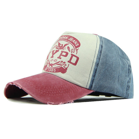 Casquette NYPD Vintage rouge