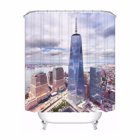 Rideau Douche New-York Freedom Tower | Le Coin du New-Yorkais