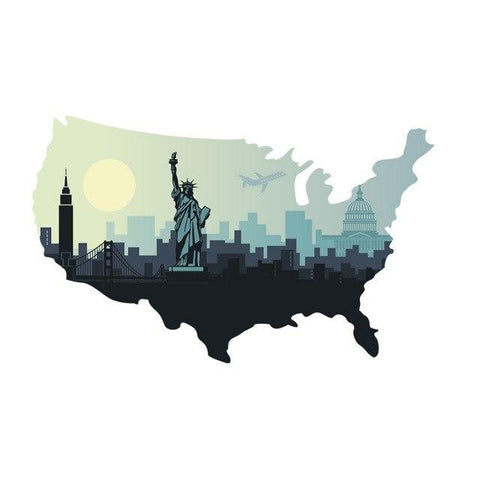Sticker New-York Etats-Unis | Le Coin du New-Yorkais
