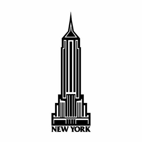Sticker New-York Mini Empire | Le Coin du New-Yorkais