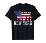 T-Shirt New-York Skyline Bannière Etoilée | Le Coin du New-Yorkais