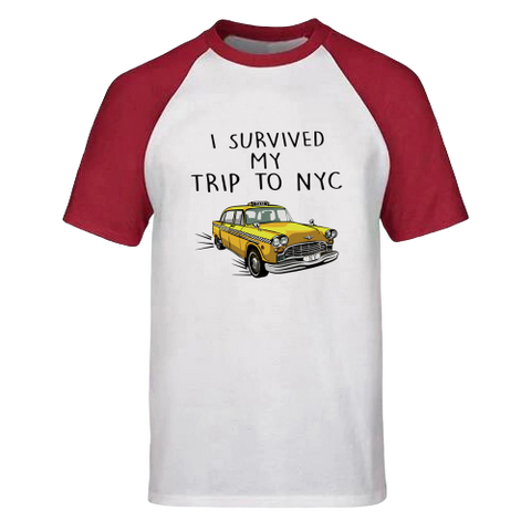 T-Shirt New-York Taxi Baseball | Le Coin du New-Yorkais