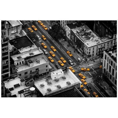 Tableau New-York Embouteillage Taxi