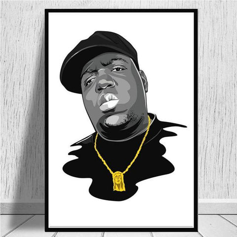 Tableau New-York Dessin Biggie | Le Coin du New-Yorkais