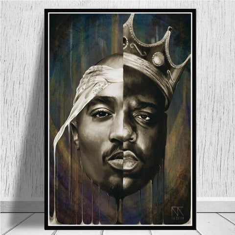 Tableau New-York Tupac Biggie | Le Coin du New-Yorkais