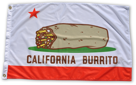 California Burrito 3' x 2' State Flag