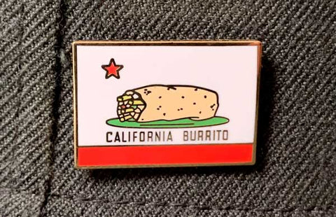 California Burrito Flag Lapel Pin