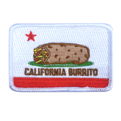 "California Burrito Flag 3"" Embroidered Patch"