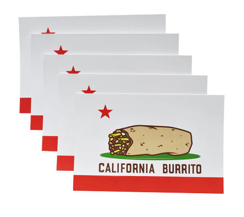 California Burrito Sticker 5-pack