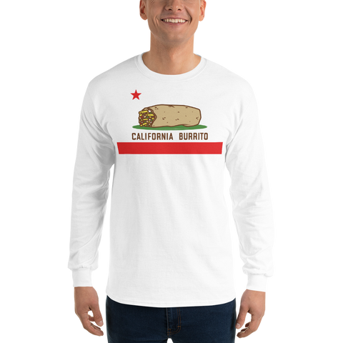 California Burrito Men's White Long Sleeve Shirt