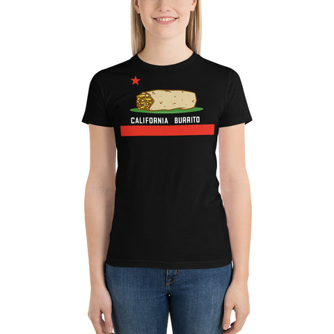 Women's California Burrito Flag Short Sleeve T-shirt