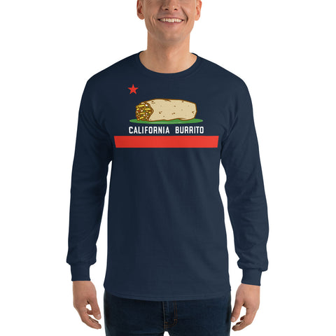 California Burrito Men's Navy Long Sleeve Shirt