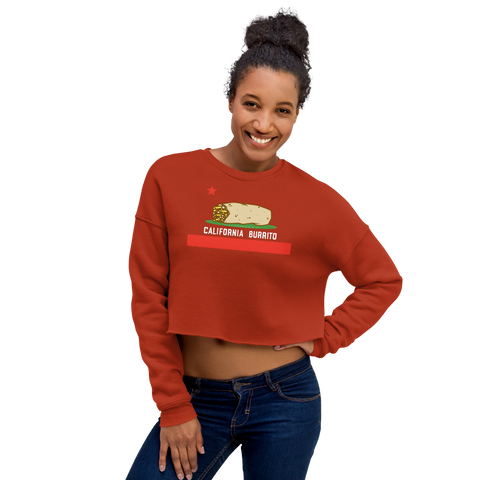 California Burrito Women's Brick Crop Sweatshirt
