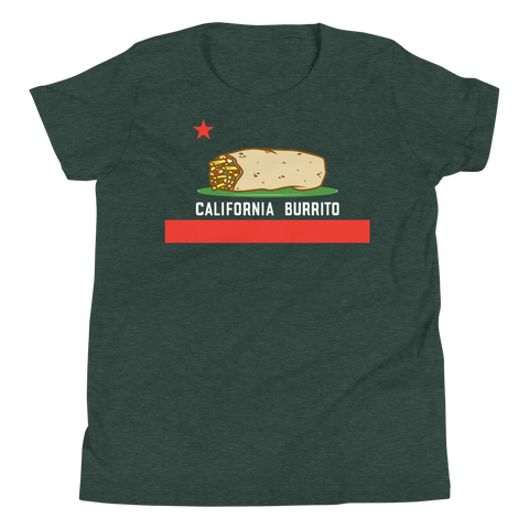 California Burrito Youth Heather Forest Short Sleeve T-Shirt