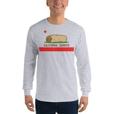 California Burrito Men's Sports Grey Long Sleeve Shirt